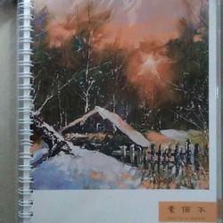 Sổ vẽ màu nước và màu chì Sketch book lò xo A4 phong cảnh các mùa