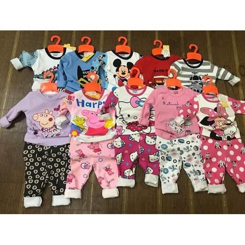 Bộ dài tay- bộ đồ cho bé- bộ đồ hàng xuất hàng dày dặn bền đẹp-chat để chọn mẫu