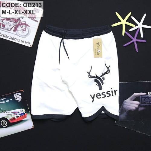 Quần short nam thể thao yessir - màu trắng