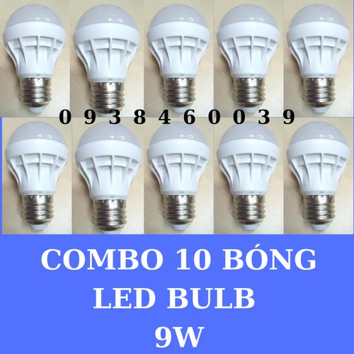 Bộ 10 -bóng đèn led 9w- e27-ánh sáng -vàng