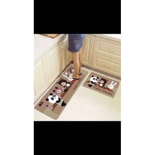 Thảm nhà bếp - bộ 2 thảm bếp bali chống trơn trượt