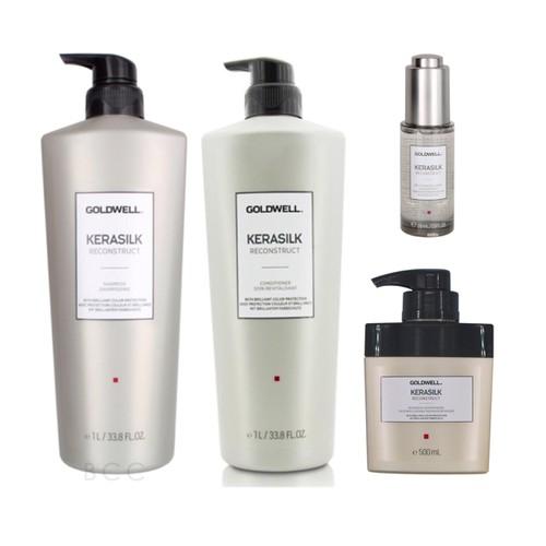 Bộ lớn gội xả, tinh dầu và hấp dầu goldwell kerasilk reconstruct chăm sóc tóc hư tổn, giúp tóc chắc khỏe, mềm mượt - 13354259 , 21559608 , 15_21559608 , 6280000 , Bo-lon-goi-xa-tinh-dau-va-hap-dau-goldwell-kerasilk-reconstruct-cham-soc-toc-hu-ton-giup-toc-chac-khoe-mem-muot-15_21559608 , sendo.vn , Bộ lớn gội xả, tinh dầu và hấp dầu goldwell kerasilk reconstruct ch