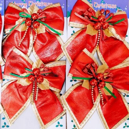 Bộ 2 nơ đỏ xinh xắn trang trí cây thông noel 20cm*18cm - 13354216 , 21559564 , 15_21559564 , 18000 , Bo-2-no-do-xinh-xan-trang-tri-cay-thong-noel-20cm18cm-15_21559564 , sendo.vn , Bộ 2 nơ đỏ xinh xắn trang trí cây thông noel 20cm*18cm