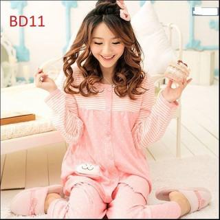 Bộ đồ mặc bầu và sau sinh cho bé bú hình chấm bi hồng xinh xắn mã BD11 - BD11 thumbnail