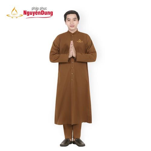 Áo tràng nam áo tràng lễ phật áo cư sĩ nam đồ lam đi chùa đồ bộ nam