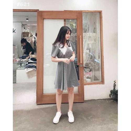 Đầm xoè caro 3 màu