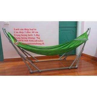 Võng Xếp Khung Inox Phi 32 Kèm Lưới Võng Cỡ Đại - 075 thumbnail