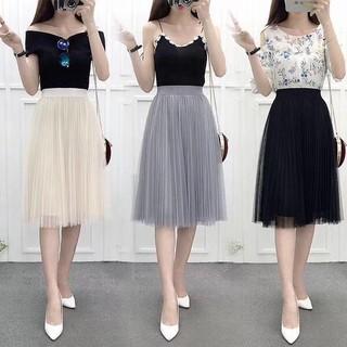 Chân váy ren xếp li dáng dài-chân váy ren công chúa - cv68 thumbnail