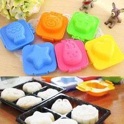 Bộ 6 Khuôn làm bánh trung thu 50gr hoạt hình dễ thương từ Hàn Quốc