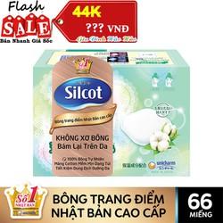 Bông Trang Điểm - Bông tẩy trang Silcot Premium Nhật Bản Cao Cấp Hộp 66 Miếng