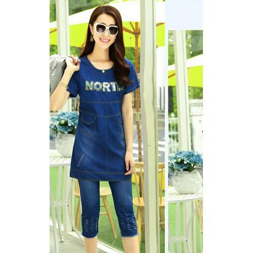 Sét đồ bộ jean nữ