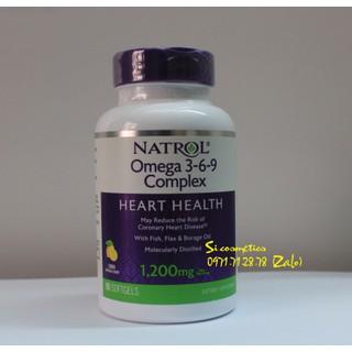 [ Hàng Mỹ Date 04 2021 ] Viên uống bổ tim mạch Natrol, Omega 3-6-9 Complex, Lemon Flavor, 1,200 mg 90 viên - Omega 3-6-9 thumbnail