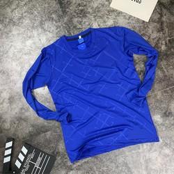 Áo thun dài tay thể thao nam màu xanh dương