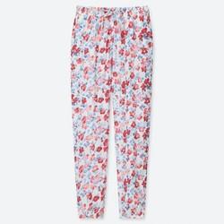 Quần lanh dài nữ họa tiết hoa mã 413948 màu 01 Off White - hàng nhập Nhật