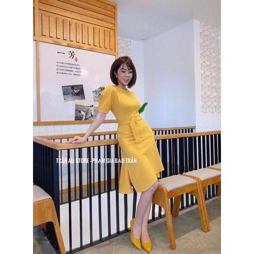 Đầm vàng xoè đuôi kèm belt - 13379326 , 21590538 , 15_21590538 , 290000 , Dam-vang-xoe-duoi-kem-belt-15_21590538 , sendo.vn , Đầm vàng xoè đuôi kèm belt