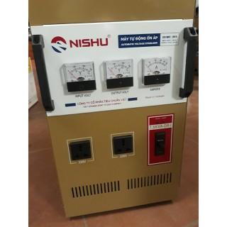 ổn áp nishu .5kw giải 50-250v thế hệ mới có thêm 1 đồng hồ báo điện vàoVÀ 2 ổ cắm - NS.5000-DR-I thumbnail