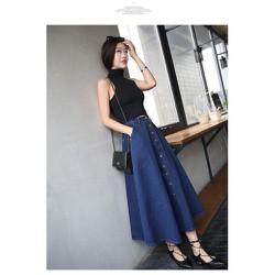 Chân váy jean dài nhập CV0415