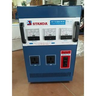 ổn áp STANDA5 kw giải 50-250v thế hệ mới có thêm 1 đồng hồ báo điện vào và 2 ổ cắm điện đằng trước - ST.5000-DR-I thumbnail
