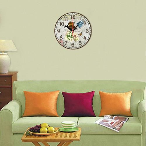 Tranh đồng hồ cánh chim thư tín dht-110-40x40