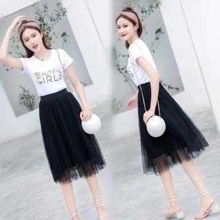 Chân váy ren xếp li dáng dài-chân váy ren công chúa - cv61 thumbnail