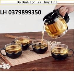 Bình pha trà thủy tinh có lõi lọc - ấm trà - Bộ Ấm pha trà