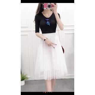 Chân váy ren xếp li dáng dài-chân váy ren - cv64 thumbnail