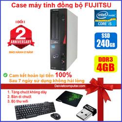 Case máy tính đồng bộ Fujitsu CPU i5 2400 - RAM 4GB - SSD 240GB 120GB