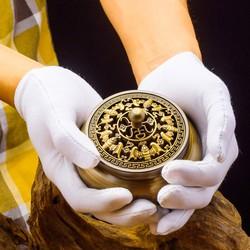 Lư xông trầm bằng đồng thau kiểu ngũ phúc lâm môn phong thủy Hồng Thắng
