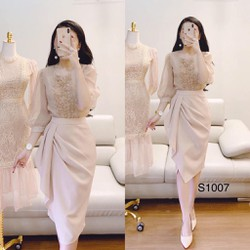 Set áo chân váy thiết kế lịch sự S1007