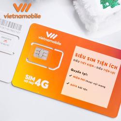 Combo 5 Siêu Sim Tiện Ích Miễn phí Data Gọi nội mạng - Duy trì chỉ 20k 1 tháng - Vietnamobile Official