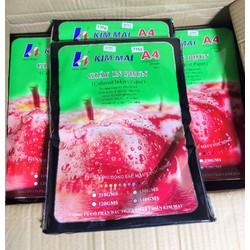 Combo 10 tập giấy in ảnh bóng 1 mặt kimmai 115g