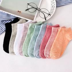 Set 10 đôi tất cổ ngắn TG06 đa dạng màu sắc cho bạn lựa chọn