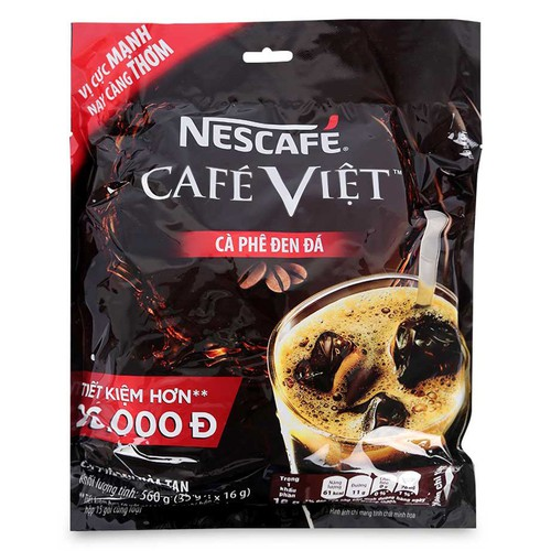 Cà phê việt đen đá hòa tan nescafe túi 560g - 35 gói x 16g - 19663086 , 24776376 , 15_24776376 , 122500 , Ca-phe-viet-den-da-hoa-tan-nescafe-tui-560g-35-goi-x-16g-15_24776376 , sendo.vn , Cà phê việt đen đá hòa tan nescafe túi 560g - 35 gói x 16g