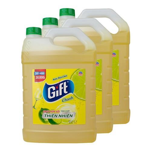 Thùng 3 can nước rửa chén gift hương chanh 3 8kg - 19691796 , 24812106 , 15_24812106 , 286000 , Thung-3-can-nuoc-rua-chen-gift-huong-chanh-3-8kg-15_24812106 , sendo.vn , Thùng 3 can nước rửa chén gift hương chanh 3 8kg