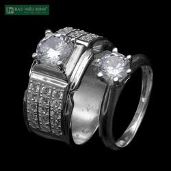 Nhẫn đôi Bạc Hiểu Minh NC581 Bạc Ta Bảo Hành Vĩnh Viễn