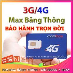 Sim 3G 4G Mobifone – gói 3 tháng Không Giới Hạn Tốc Độ – Dung Lượng – Bảo Hành Trọn Đời