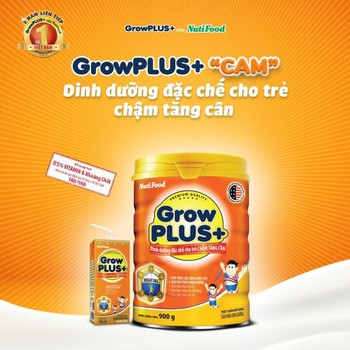 Sữa bột Grow Plus cam 900g
