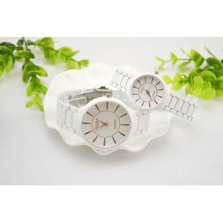 Đồng hồ đôi dây gốm thạch anh dành cho học sinh, sinh viên Rosra - Rosra 2