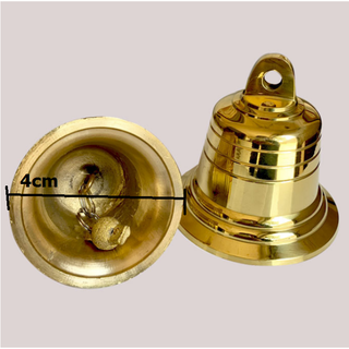 Chuông đồng phong thủy, Chuông đồng nhỏ Vàng Kim loại cho Nhà thờ 206723 - 206723 thumbnail