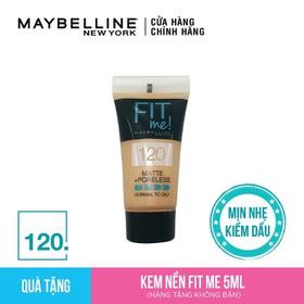 Kem Nền Mịn Lì Từ Nhiên Maybelline Fit Me Tube 120 5ml - G3569100
