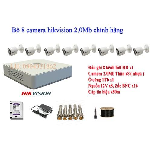 Trọn bộ 8 camera hikvision 2.0mp , 8 cam thân 16d0t-irp + ds-7108hqhi-k1 + ổ cứng 1tb, tên miền xem qua mạng trọn đời - 19761320 , 24899884 , 15_24899884 , 9980000 , Tron-bo-8-camera-hikvision-2.0mp-8-cam-than-16d0t-irp-ds-7108hqhi-k1-o-cung-1tb-ten-mien-xem-qua-mang-tron-doi-15_24899884 , sendo.vn , Trọn bộ 8 camera hikvision 2.0mp , 8 cam thân 16d0t-irp + ds-7108hqh
