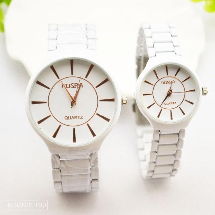 Đồng hồ đôi dây gốm thạch anh dành cho học sinh, sinh viên Rosra - Rosra 3