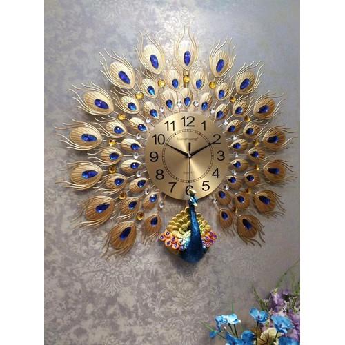 Đồng hồ trang trí chim công nghệ thuật