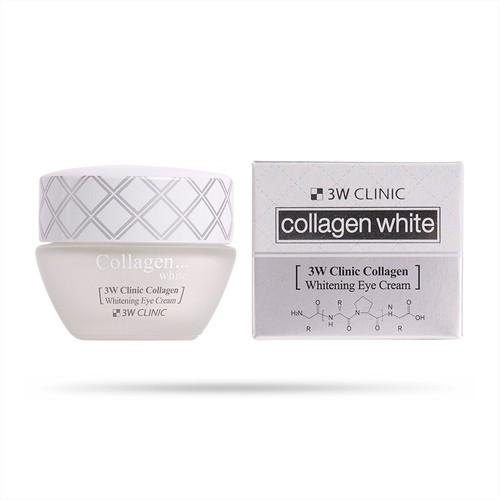 Kem dưỡng trắng sáng da vùng mắt bổ sung collagen 3w clinic collagen whitening eye cream 35ml