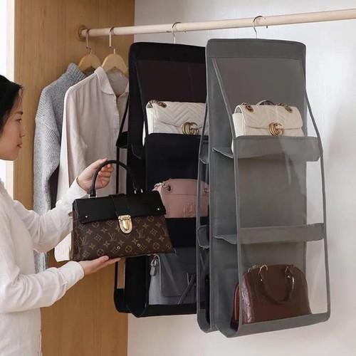Giỏ treo túi xách chống bụi 6 ngăn hót hít