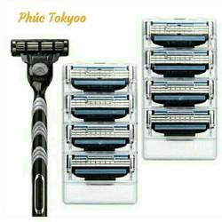 Dao cạo râu 3 lớp Fuji 3 loại tốt : Cán & 8 lưỡi