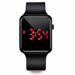 Đồng hồ điện tử thể thao chống nước mặt gương vuông dây cao su