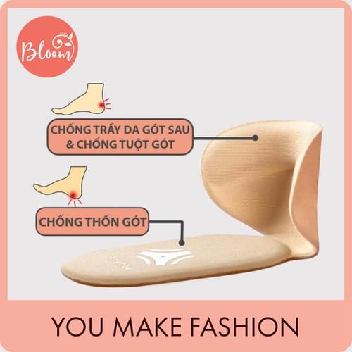 Lót giày cao gót chống rộng chống trầy gót cực êm chân cao cấp bloom miếng lót giày cao gót êm chân