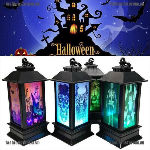 Fasi halloween vintage pumpkin castle light lamp party hanging decor led lantern 2019 vn
