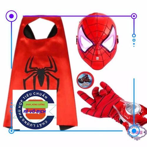 Rẻ vô địch bộ đồ hóa trang người nhện có mặt nạ cho bé